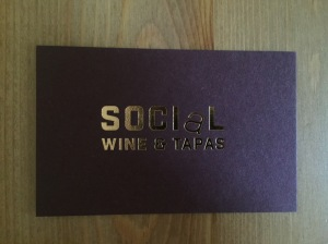 Social Wine and Tapas business card