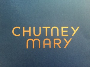 Chutney Mary business card