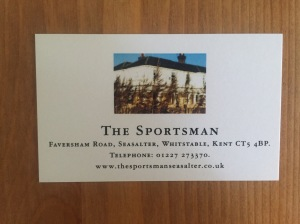 The Sportsman business card